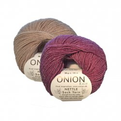 Onion Nettle Sock Yarn, Sockgarn i naturmaterial