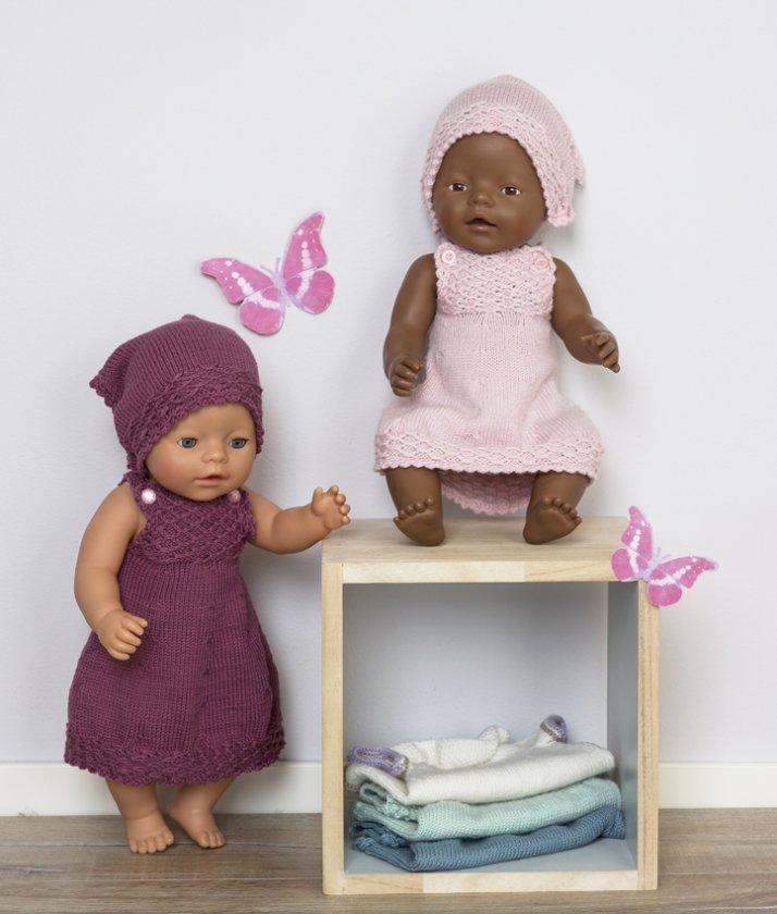 Stickmönster Prematur babyklänning