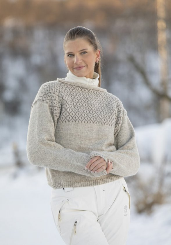Stickmönster tröja i Viking Eco Highland wool