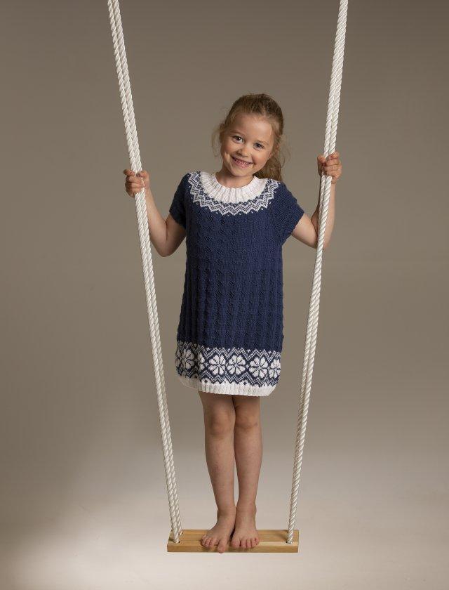 Stickmönster klänning Lydia i Viking Bambino