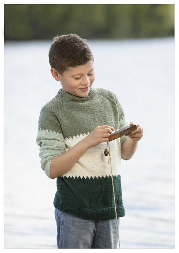 Mönsterkatalog Viking 2017 Stickmönster barn Garn Viking Bambino